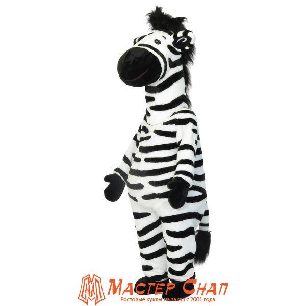 ростовая кукла зебра талисман компании