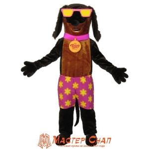Такса в шортах ростовая кукла